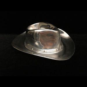 Wilton Armetale Cowboy Hat Chip & Dip Server
